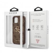 Guess 4G Big Metal Logo - Etui iPhone 12 / iPhone 12 Pro (brązowy)