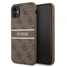 Guess 4G Stripe Collection - Etui iPhone 11 (brązowy)