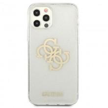 Guess Glitter 4G Big Logo - Etui iPhone 12 / iPhone 12 Pro (przezroczysty)