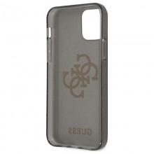 Guess Glitter 4G Big Logo - Etui iPhone 12 Pro Max (czarny)