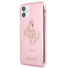 Guess Glitter 4G Big Logo - Etui iPhone 11 (różowy)