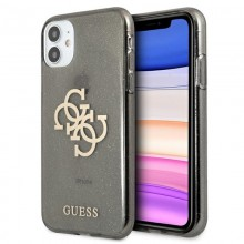 Guess Glitter 4G Big Logo - Etui iPhone 11 (czarny)