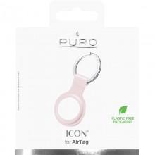 PURO ICON Case - Silikonowy brelok do Apple AirTag (piaskowy róż)