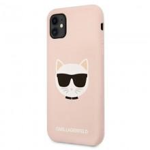 Karl Lagerfeld Choupette Head Silicone - Etui iPhone 11 (różowy)
