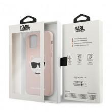 Karl Lagerfeld Choupette Head Silicone - Etui iPhone 12 / iPhone 12 Pro (różowy)