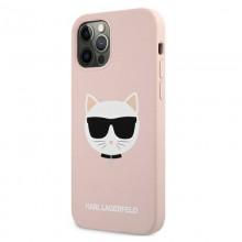 Karl Lagerfeld Choupette Head Silicone - Etui iPhone 12 Pro Max (różowy)