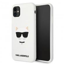 Karl Lagerfeld Choupette Head Silicone - Etui iPhone 11 (biały)