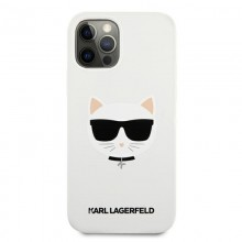 Karl Lagerfeld Choupette Head Silicone - Etui iPhone 12 / iPhone 12 Pro (biały)
