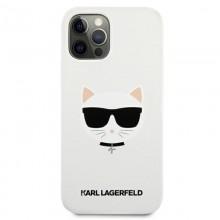 Karl Lagerfeld Choupette Head Silicone - Etui iPhone 12 Pro Max (biały)