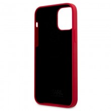 Karl Lagerfeld Choupette Head Silicone - Etui iPhone 12 Pro Max (czerwony)