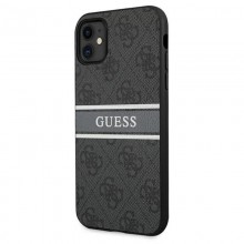 Guess 4G Stripe Collection - Etui iPhone 11 (szary)