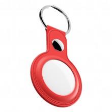 KeyBudz AirTag Keyring - skórzane etui ochronne do AirTag 2- pack (czerwone)