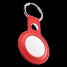 KeyBudz AirTag Keyring - skórzane etui ochronne do AirTag (czerwone)