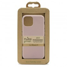 PURO Green Compostable Eco-friendly Cover - Ekologiczne etui iPhone 11 (piaskowy róż)