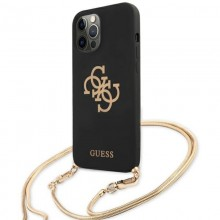 Guess 4G Big Logo Chain - Etui iPhone 12 / iPhone 12 Pro (czarny)