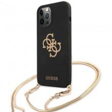 Guess 4G Big Logo Chain - Etui iPhone 12 Pro Max (czarny)