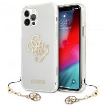 Guess 4G Big Logo Charm - Etui iPhone 12 / iPhone 12 Pro (złoty charms)