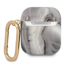 Guess Marble Est. - Etui Airpods (czarny)