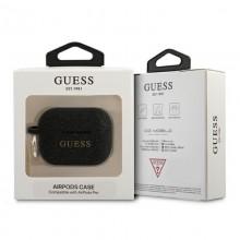 Guess Silicone Glitter Case Est – Etui Airpods Pro (czarny)