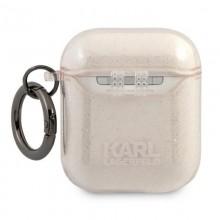 Karl Lagerfeld Choupette Head Glitter - Etui Airpods (złoty)