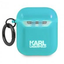 Karl Lagerfeld Choupette Head - Etui Airpods (fluo niebieski)