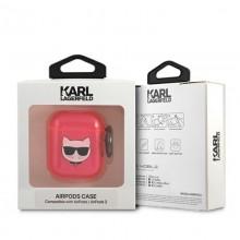 Karl Lagerfeld Choupette Head - Etui Airpods (fluo różowy)