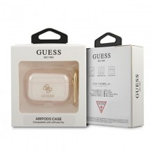 Guess Colored Glitter - Etui Airpods Pro (złoty)