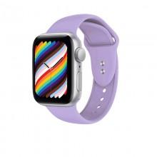 Crong Liquid - Pasek do Apple Watch 38/40 mm (fioletowy)