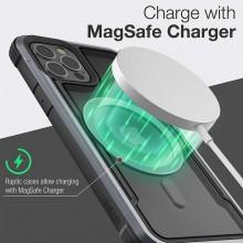 Raptic Shield Pro Magnet – Etui aluminiowe iPhone 12/12 Pro MagSafe (DROP TEST 4M) (czarny)