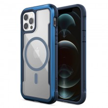 Raptic Shield Pro Magnet – Etui aluminiowe iPhone 12/12 Pro MagSafe (DROP TEST 4M) (niebieski)
