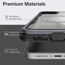 Raptic Shield Pro Magnet – Etui aluminiowe iPhone 12/12 Pro MagSafe (DROP TEST 4M) (czerwony)