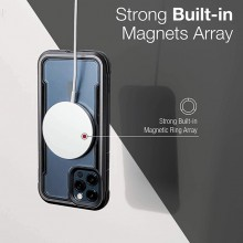 Raptic Shield Pro Magnet – Etui aluminiowe iPhone 12 Pro Max MagSafe (DROP TEST 4M) (czarny)