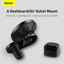 BASEUS WXJN-01 MAGNETIC MAGSAFE WIRELESS CAR CHARGER 15W BLACK