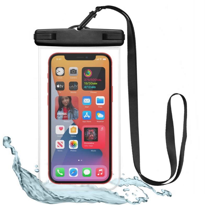 TECH-PROTECT UNIVERSAL WATERPROOF CASE BLACK/CLEAR