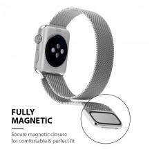 Crong Milano Steel – Pasek ze stali nierdzewnej do Apple Watch 38/40 mm (granatowy)