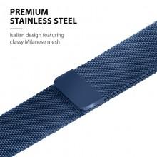 Crong Milano Steel – Pasek ze stali nierdzewnej do Apple Watch 42/44 mm (granatowy)