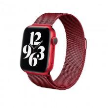 Crong Milano Steel – Pasek ze stali nierdzewnej do Apple Watch 42/44 mm (czerwony)