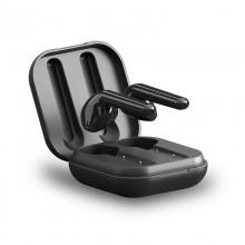 PURO SLIM POD TWS 5.0 – Bezprzewodowe słuchawki Bluetooth V5.0 z etui ładującym, wodoszczelność IPX5 (Czarny)