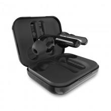 PURO TWINS PRO TWS 5.0 – Bezprzewodowe słuchawki Bluetooth V5.0 z etui ładującym, wodoszczelność IPX5 (Czarny)