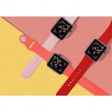 PURO ICON - Elastyczny pasek sportowy do Apple Watch 42/44 mm (S/M & M/L) (Taupe)
