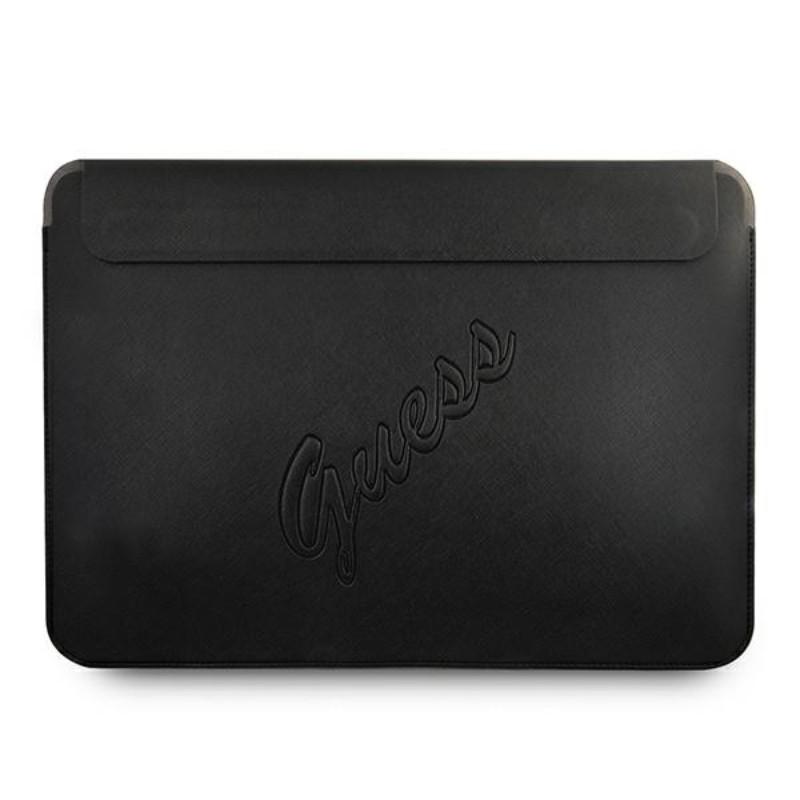 "Guess Saffiano Script Computer Sleeve - Etui na notebooka 13"" (czarny)"