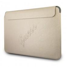 "Guess Saffiano Script Computer Sleeve - Etui na notebooka 13"" (złoty)"