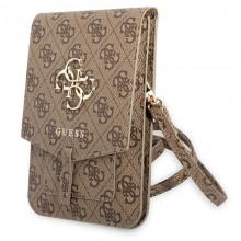 Guess 4G Big Metal Logo Phone Bag – Torba z przegrodą na smartfona (brązowy)