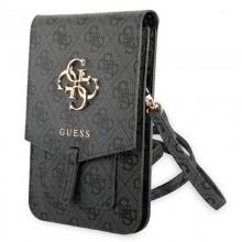 Guess 4G Big Metal Logo Phone Bag – Torba z przegrodą na smartfona (czarny)