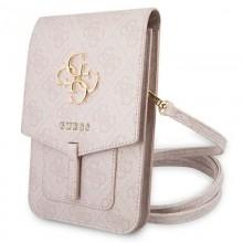 Guess 4G Big Metal Logo Phone Bag – Torba z przegrodą na smartfona (różowy)