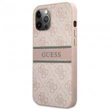 Guess 4G Stripe Collection - Etui iPhone 12 / iPhone 12 Pro (różowy)