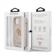 Guess 4G Big Metal Logo - Etui iPhone 12 / iPhone 12 Pro (różowy)