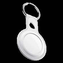 KeyBudz AirTag Keyring - skórzane etui ochronne do AirTag (białe)