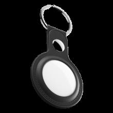 KeyBudz AirTag Keyring - skórzane etui ochronne do AirTag 2- pack (czarne)