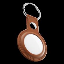 KeyBudz AirTag Keyring - skórzane etui ochronne do AirTag (Tan)